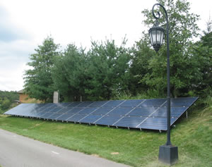 Wellesley College solar panels