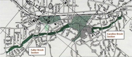 Brook Path plan, Wellesley MA