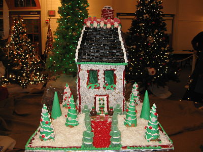 Festival of Trees gingerbread house