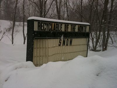 Wellesley RDF snow sign
