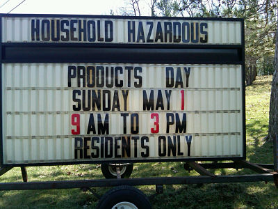 Household hazardous products day