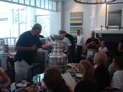 Stanley Cup at The Cottage in Wellesley
