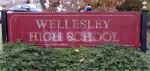 Wellesley High School sign