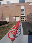 new Wellesley High bike racks Feb 2012