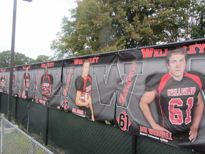 wellesley football banner