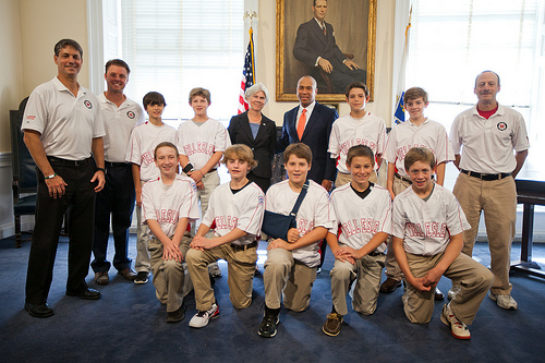 Wellesley Little League team, Gov. Patrick