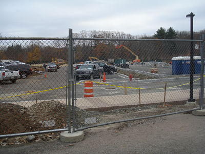 Wellesley High parking lot, Nov. 2012