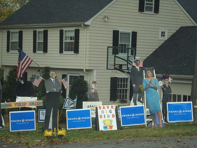 Obama, Romney Bay State Rd Wellesley