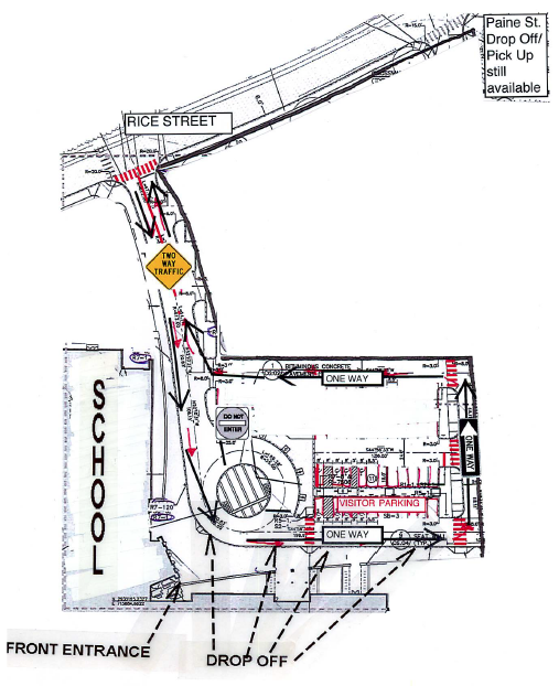 Wellesley High Parking Lot Map