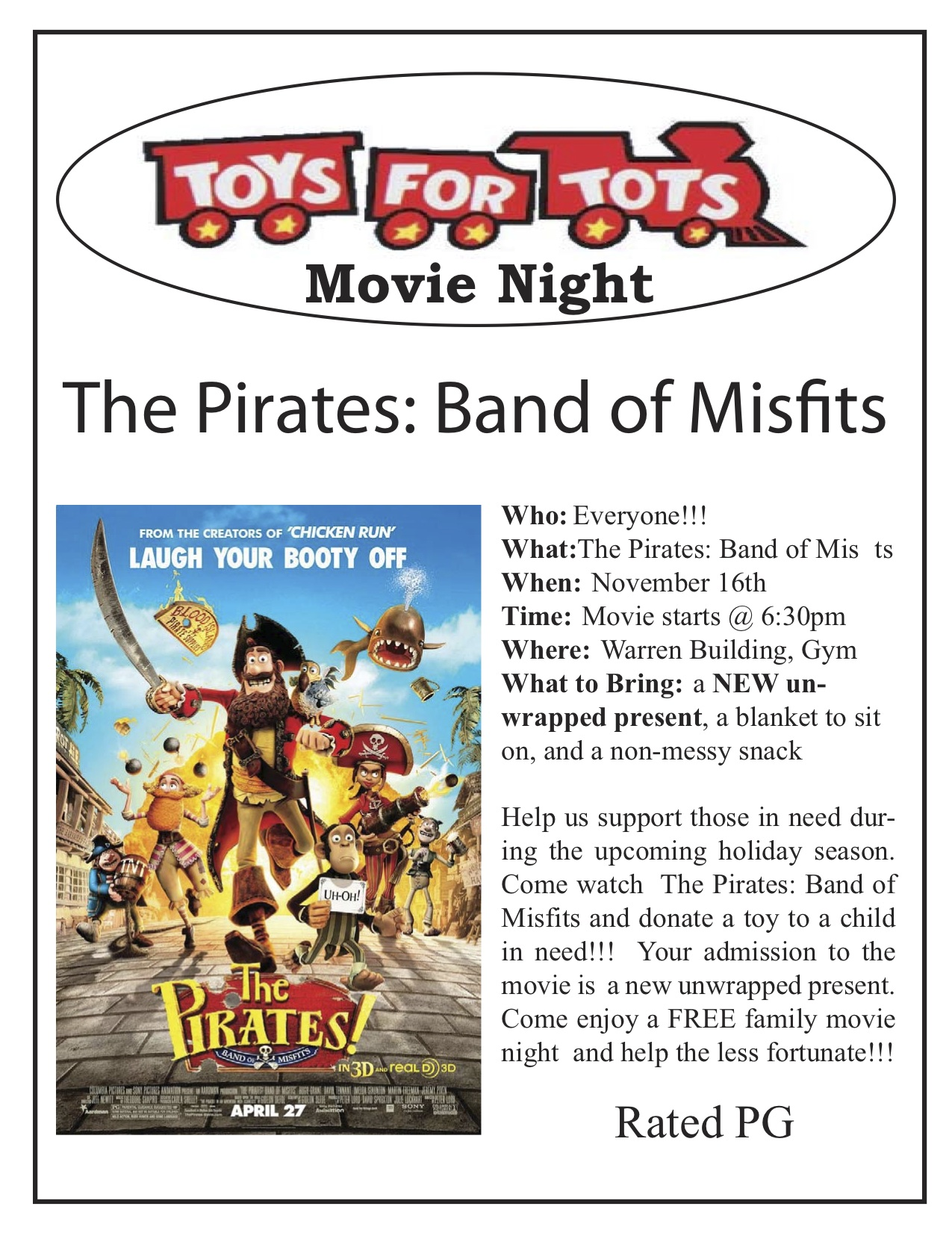 The Priates toys tots