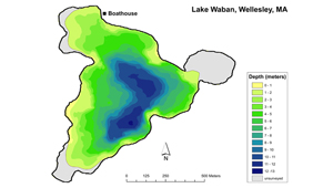 Lake Waban map