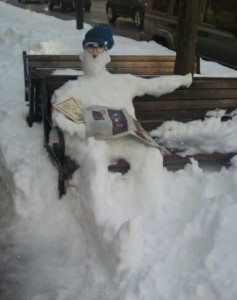 wellesley square reading snowman