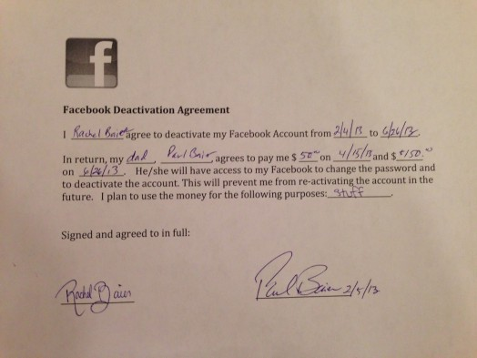 facebook contract