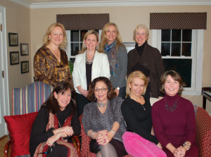 At a recent Auction Committee Meeting: Back row L to R: Christina Dougherty, Susan D'Alton, Gala Chair Minou Palandjian, and Cindy Crofts-Wisch; Front Row L to R: Caren Stanley, Marge Perlman, Rosie Reyes, and Meredith Scott.