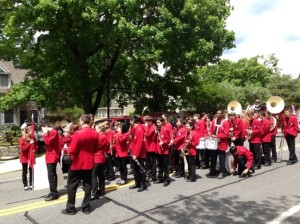 Wellesley High marching band parade 2013