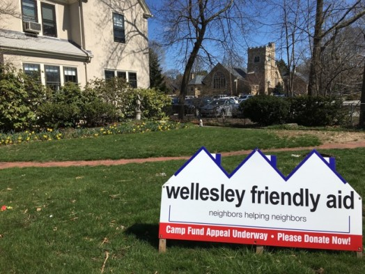 Wellesley Friendly Aid camp sign