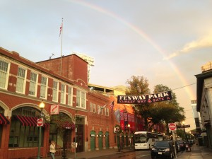 rainbow over fenway june 2013