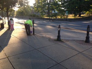 DPW balloon cleanup after mom's day out shopping sept 2013