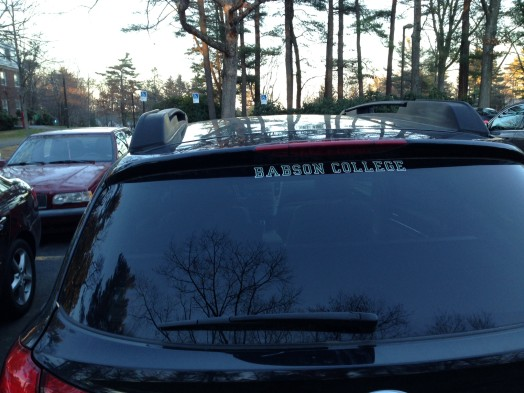 Babson Bumper, or window decal