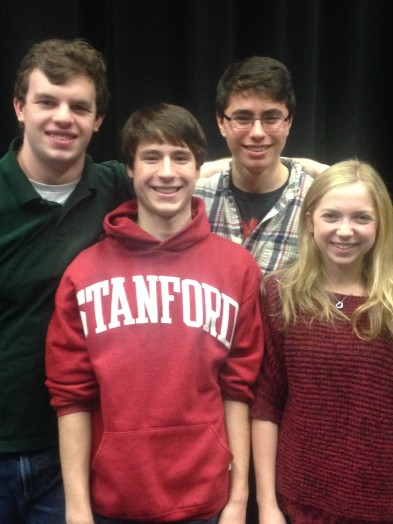 L to R - Justin O'Brien, Andrew Maney, Gabe Gager, Anna Bortnick