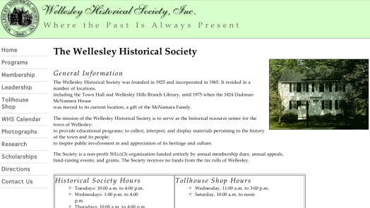 historical society website