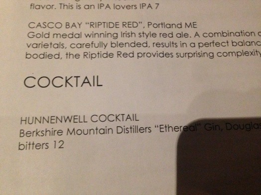 The Local Hunnewell cocktail