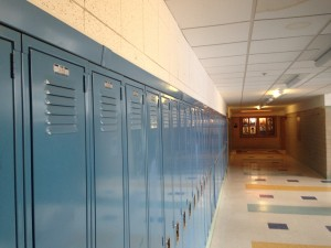 Wellesley Middle School lockers