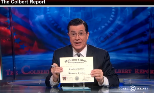 colbert report wellesley college