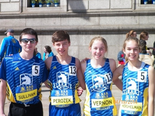 Wellesley middle school runners BAA invitational