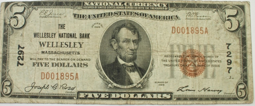 wellesley bank note