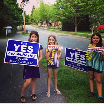 Vote Yes girls