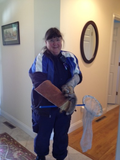 Wellesley animal control officer Sue Webb, with Squirrel