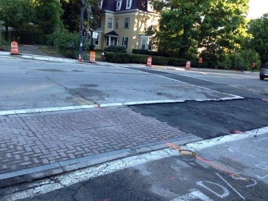 Wellesley crosswalk brick august 2014