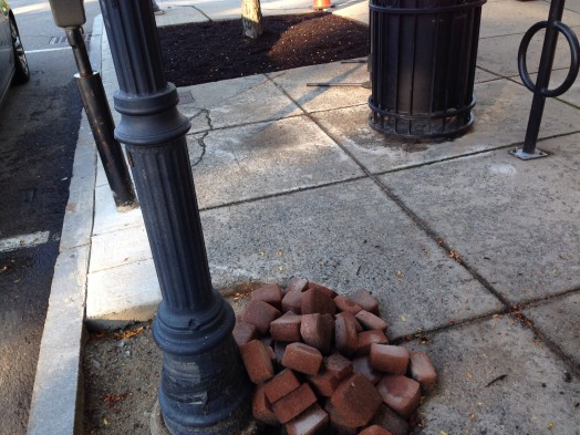 sidewalk bricks