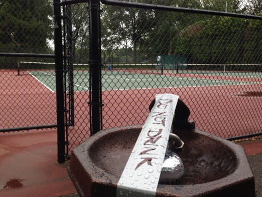 wellesley water warning tennis courts