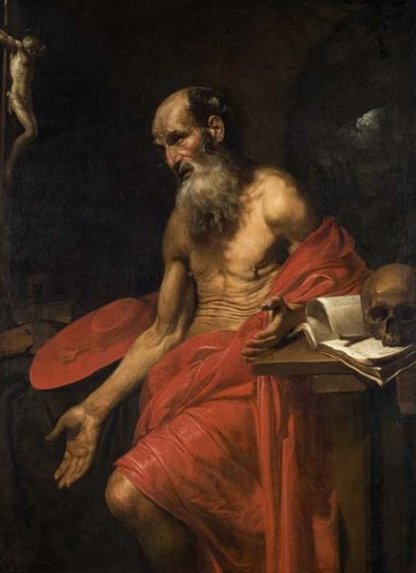 From Hanging with the Old Masters: Valentin de Boulogne, St. Jerome, ca. 1628-30, Oil on canvas,