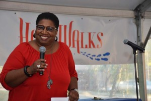 Callie Crossley from WGBH-FM's Under the Radar emceed this year's HopeWalks event.