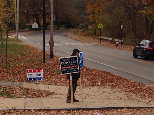 Local attorney David Himmelberger shows his support