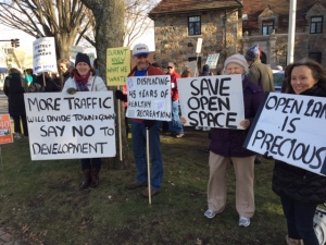 North 40 protest at fire station