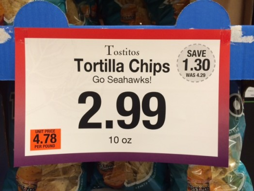 roche bros tortilla chips sign