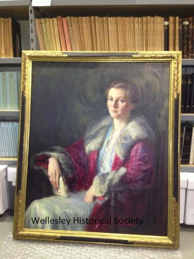 Mary Brewster Hazelton painting of Helen Hazelton (via Wellesley Historical Society)