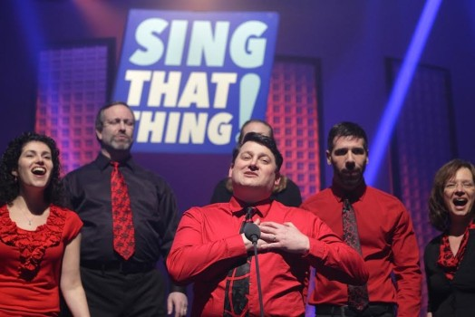 None of the Above at WGBH studio for Sing That Thing (photo credit: WGBH/Patricia Alvarado Nuñez)