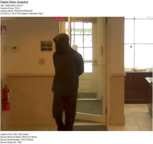 TD Bank surveillance photo of robbery suspect