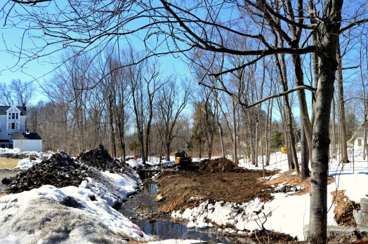 Brook Path under construction at the corner of Forest and Seaver.