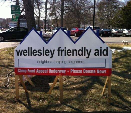Wellesley Friendly Aid sign