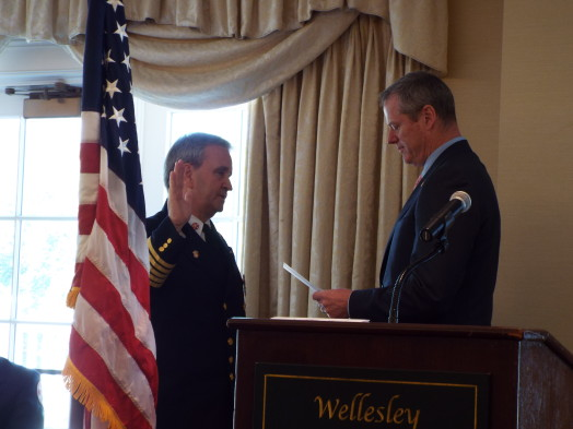 wellesley fire chief delorie, governor charlie baker, wellesley country club
