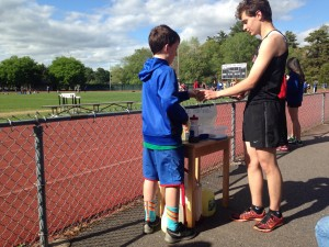 raising money for schofield employee at track