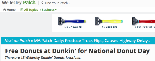 patch dunkin donuts wellesley