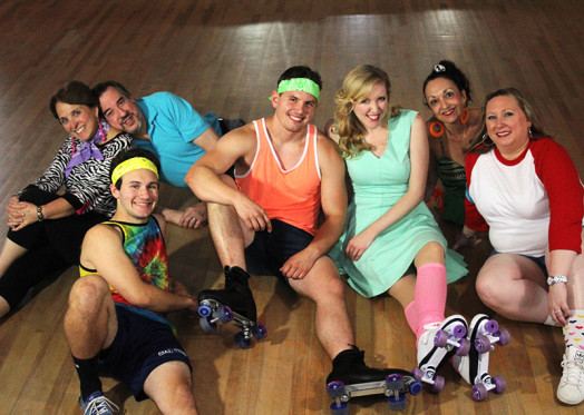 Xanadu cast, featuring Wellesley's Cathy Merlo