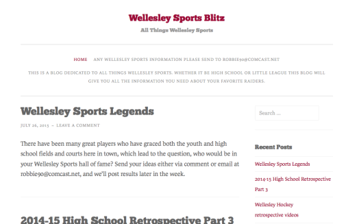 wellesley sports blitz